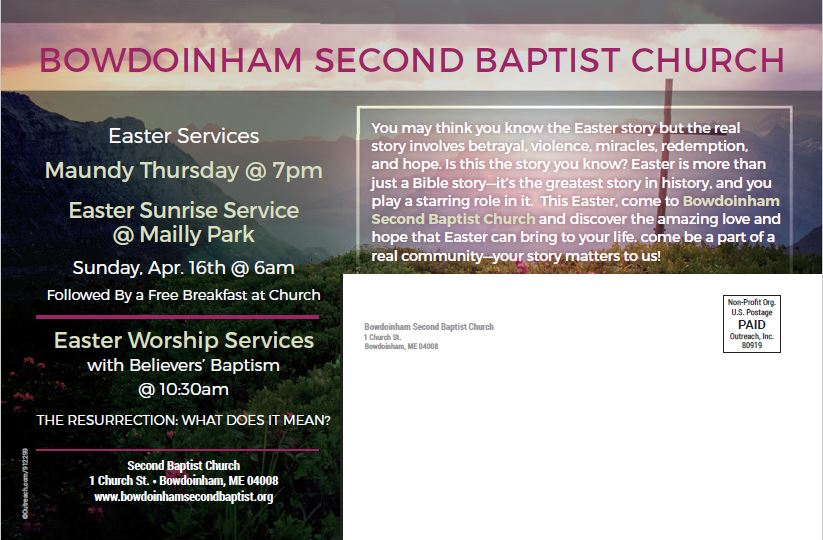 64e7c9d7 Celebrate Easter! – Bowdoinham Second Baptist Church